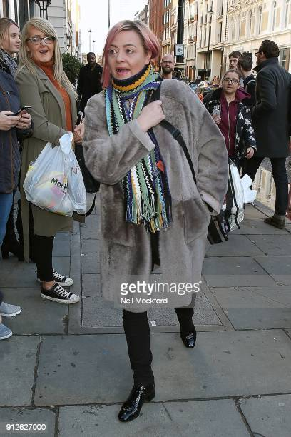 Lisa Armstrong arriving at the London Palladium for Britain's Got Talent auditions on January 31 2018 in London England