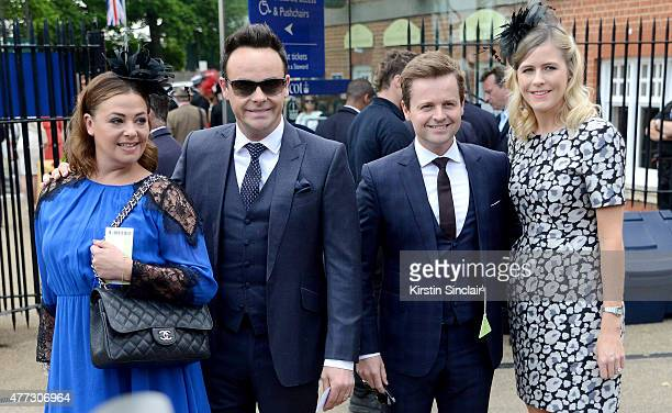 Lisa Armstrong presenter Anthony McPartlin presenter Declan Donnelly and Ali Astall attend Royal Ascot 2015 at Ascot racecourse on June 16 2015 in...
