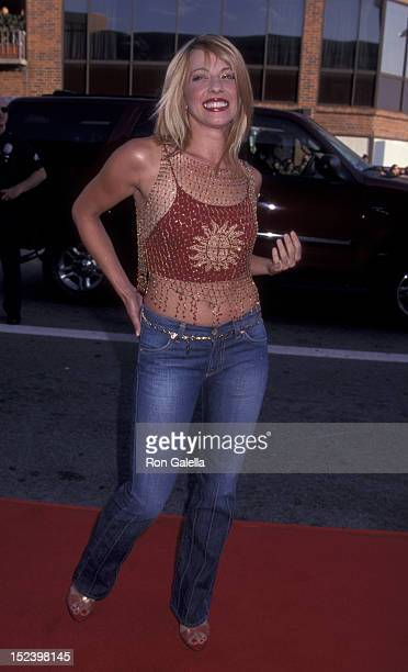 Lisa Arturo attends the world premiere of American Pie 2 on August 6 2001 at Mann National Theater in Westwood California