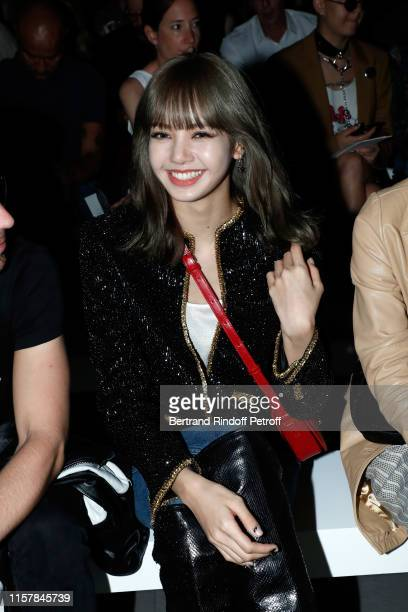 Lisa attends the Celine Spring Summer 2020 show as part of Paris Fashion Week on June 23 2019 in Paris France