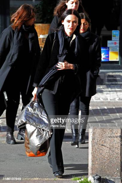Lisa Azuelos attends Marie Laforet's funeral at Eglise Saint Eustache on November 07, 2019 in Paris, France.