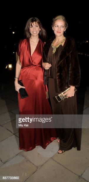 Lisa B and guest attend the Saatchi Gallery dinner for Gucci's Creative Director in London England