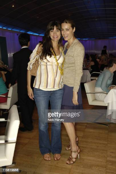 Lisa B and Yasmin Le Bon during Yasmin Mill's New Book How To Party Launch at Harvey Nichols in London Great Britain