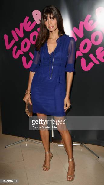 Lisa B attends the Liver Good Life event in aid of The Hepatitis C Trust at Christie's King Street on September 16 2009 in London England