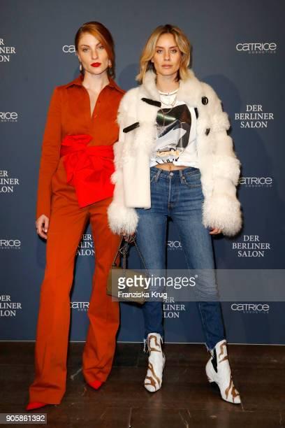 Lisa Banholzer and Tanja Trutschnig attend the Group Presentation during 'Der Berliner Salon' AW 18/19 at Kronprinzenpalais on January 16 2018 in...