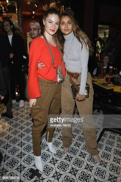 Lisa Banholzer and Wana Limar attend the William Fan Defilee during 'Der Berliner Salon' AW 18/19 on January 18 2018 in Berlin Germany