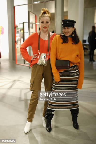 Lisa Banholzer attends the Lala Berlin X Koenig Souvenir event during 'Der Berliner Salon' AW 18/19 at Koenig Galerie on January 18 2018 in Berlin...