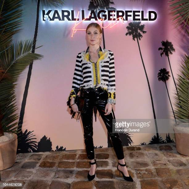 Lisa Banholzer attends the launch of the Karl x Kaia collaboration capsule collection on October 2 2018 in Paris France