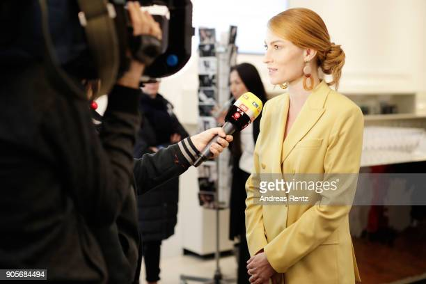 Lisa Banholzer attends the Strenesse presentation during 'Der Berliner Salon' AW 18/19 at The Gate on January 16 2018 in Berlin Germany