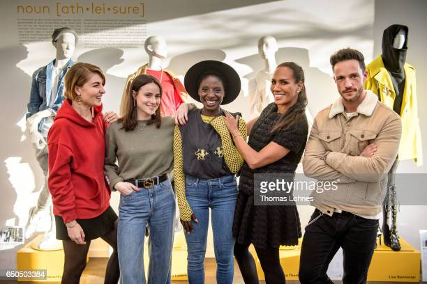 Lisa Banholzer Lena Lademann Nikeata Thomson host of the event Babara Becker and Daniel Fuchs attend the Athleisure popup event and exhibition at...