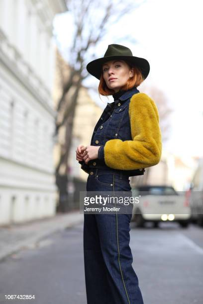 Lisa Banholzer wearing a Baum Pferdgarten jacket and jeans on November 14 2018 in Berlin Germany