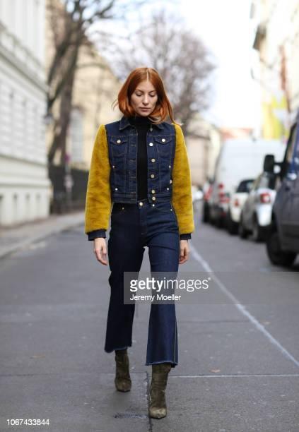 Lisa Banholzer wearing a Baum Pferdgarten jacket and jeans on November 14 2018 in Berlin Germany