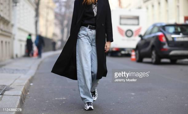 Lisa Banholzer wearing Weekday pants Diesel hoodie and Puma shoes on January 23 2019 in Berlin Germany