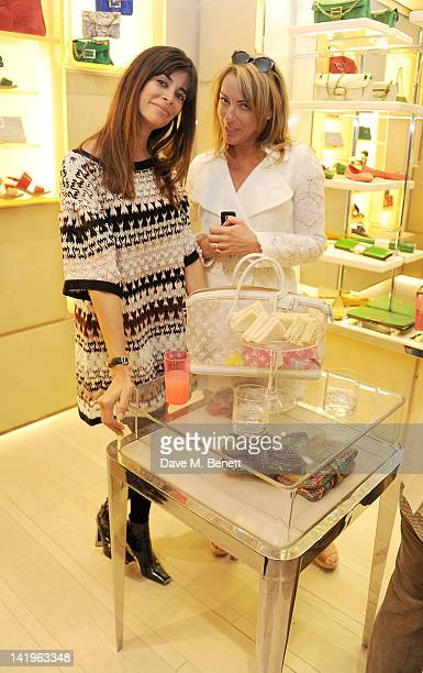 Lisa Barbuscia aka Lisa B and Grania Stevenson attend a children's afternoon tea party hosted by Roger Vivier to launch their new Jeune Fille...