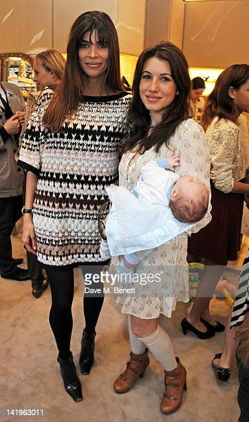 Lisa Barbuscia aka Lisa B and Lauren Kemp attend a children's afternoon tea party hosted by Roger Vivier to launch their new Jeune Fille collection...