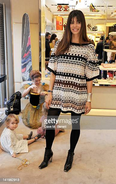 Lisa Barbuscia aka Lisa B attends a children's afternoon tea party hosted by Roger Vivier to launch their new Jeune Fille collection for girls at...