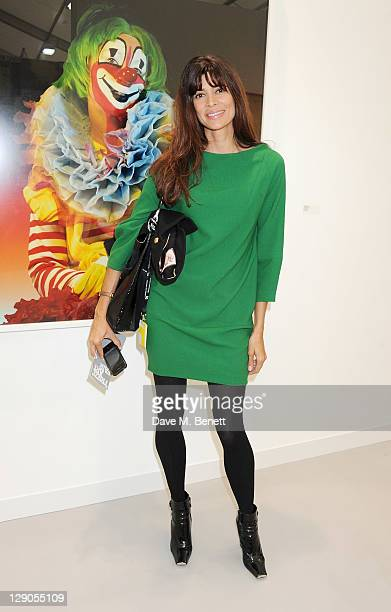 Lisa Barbuscia aka Lisa B attends a VIP preview of the Frieze Art Fair in Regent's Park on October 12 2011 in London England