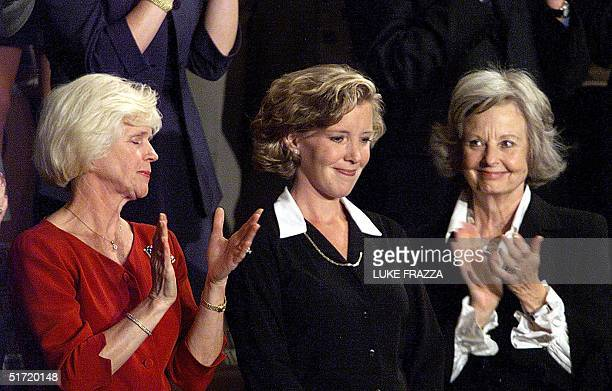 Lisa Beamer is acknowledged by the US Congress 20 September 2001 during an address by US President George W Bush to a joint session of the Congress...