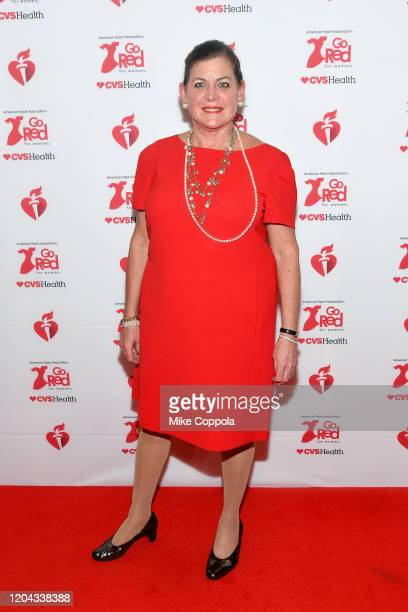 Lisa Bisaccia attends The American Heart Association's Go Red for Women Red Dress Collection 2020 at Hammerstein Ballroom on February 05 2020 in New...