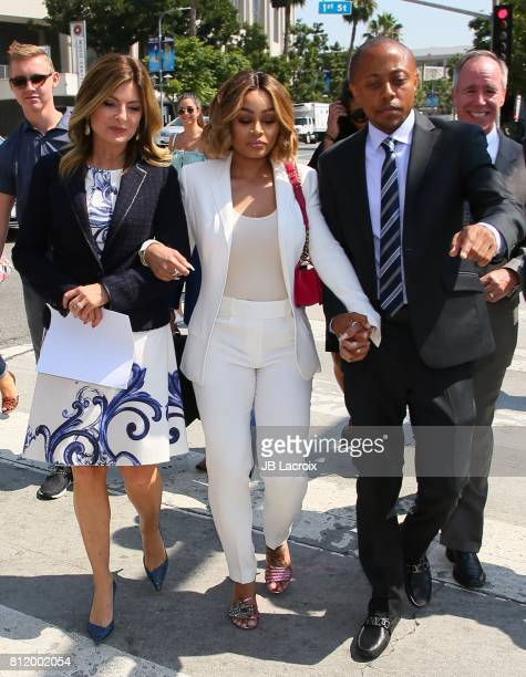 Lisa Bloom and Blac Chyna are seen on July 10 2017 in Los Angeles California