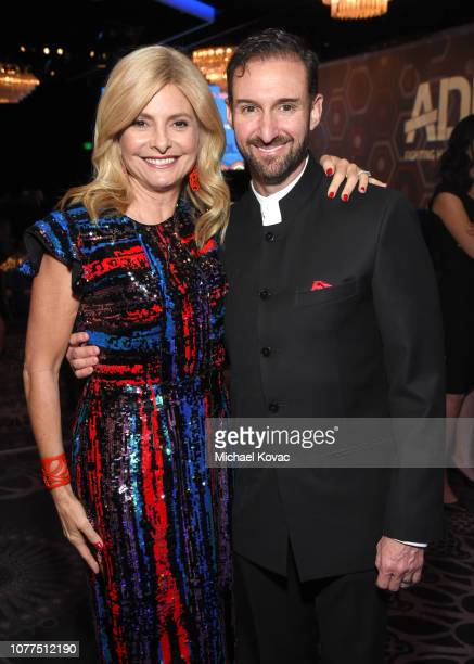 Lisa Bloom and Braden Pollock attend the AntiDefamation League's Annual Gala Celebration at The Beverly Hilton Hotel on December 04 2018 in Beverly...