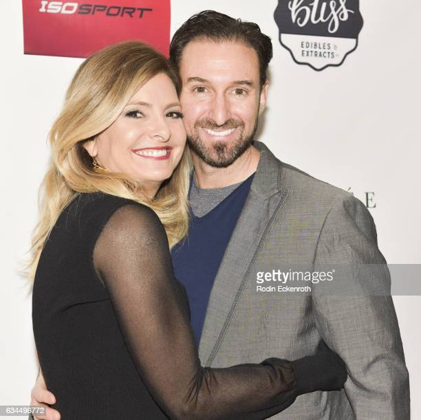 Lisa Bloom and Braden Pollock attend Women Abuv Ground's CannaCool Lounge at Casa Vertigo on February 9 2017 in Los Angeles California