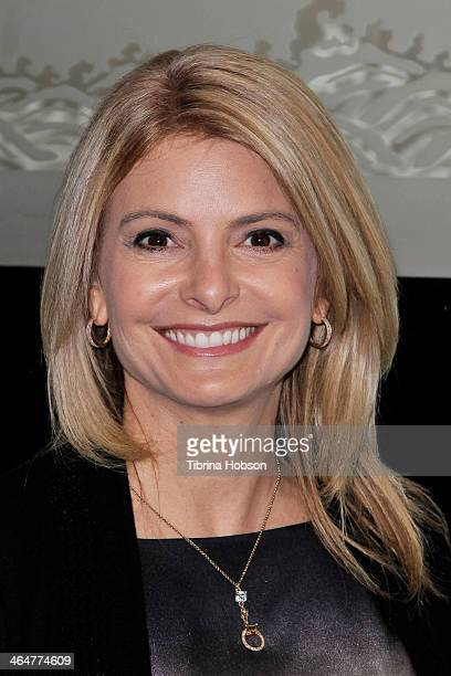 Lisa Bloom attends 'The Croods' VIP dinner at Mr Chow on January 23 2014 in Los Angeles California
