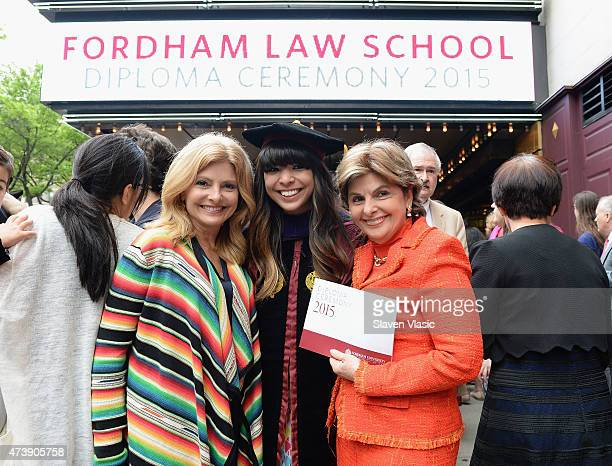 Lisa Bloom Sarah Bloom and Gloria Allred the three generation of women lawyers attend Sarah Bloom's graduation from Fordam Law School at Beacon...