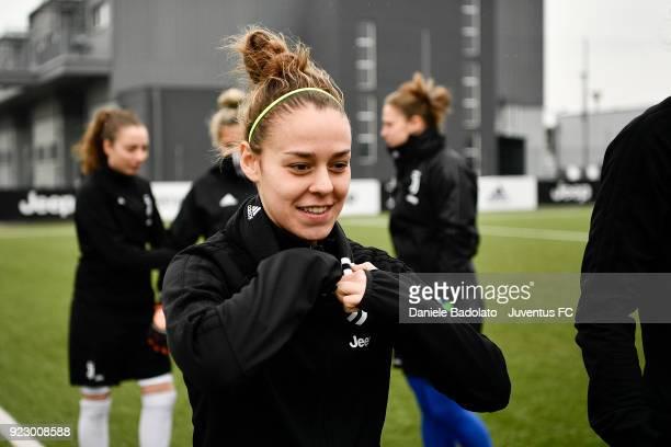 Lisa Boattin during a Juventus Women training session on February 22 2018 in Vinovo Italy