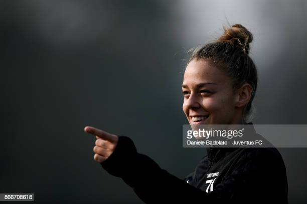 Lisa Boattin during a Juventus Women training session on October 26 2017 in Turin Italy