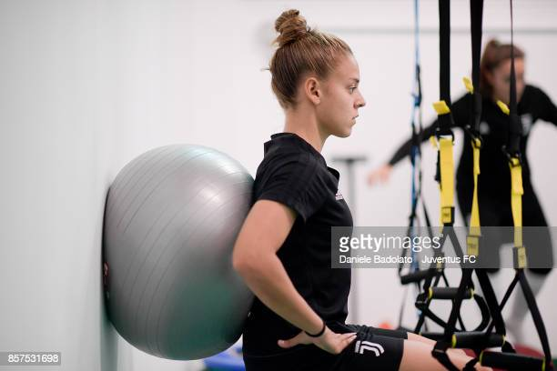 Lisa Boattin during a Juventus Women training session on October 4 2017 in Turin Italy