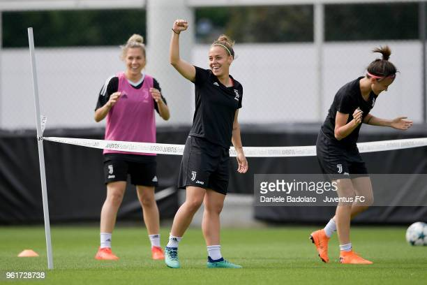 Lisa Boattin during the Juventus Women training session on May 23 2018 in Turin Italy