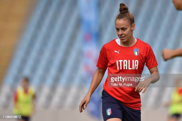 Lisa Boattin in action during an Italian women's training session at Stadium Lille Metropole on June 16 2019 in Villeneuve d'Ascq near Lille France