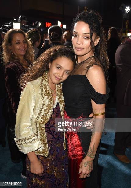 Lisa Bonet and her daughter Lola Iolani Momoa arrive at the premiere of Warner Bros Pictures' Aquaman at the Chinese Theatre on December 12 2018 in...