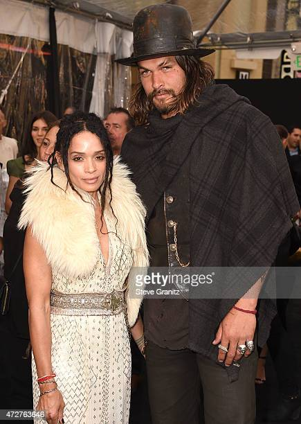Lisa Bonet and Jason Momoa arrive at the 'Mad Max Fury Road' Los Angeles Premiere at TCL Chinese Theatre IMAX on May 7 2015 in Hollywood California