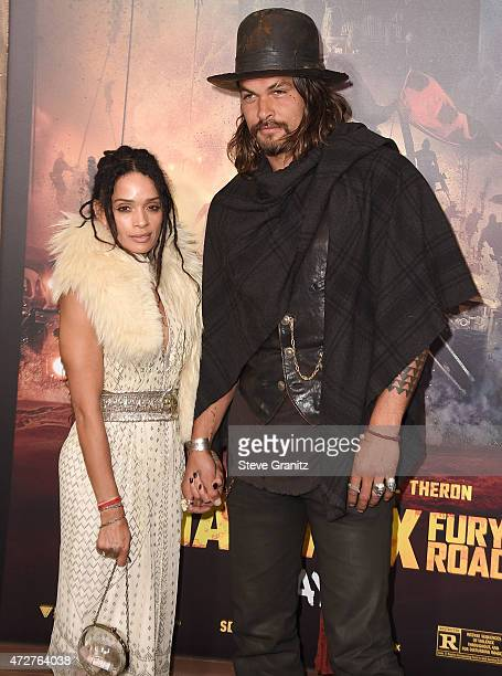 Lisa Bonet and Jason Momoa arrive at the Mad Max Fury Road Los Angeles Premiere at TCL Chinese Theatre IMAX on May 7 2015 in Hollywood California