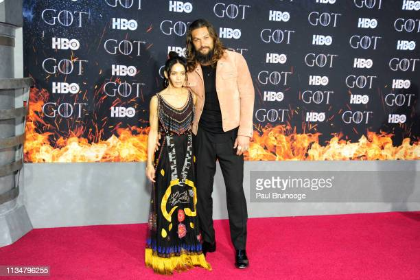 Lisa Bonet and Jason Momoa attend Game Of Thrones New York Premiere at Radio City Music Hall NYC on April 3 2019 in New York City