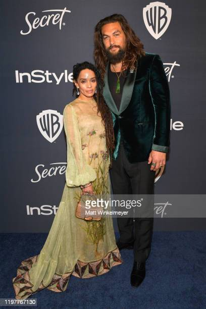 Lisa Bonet and Jason Momoa attend The 2020 InStyle And Warner Bros 77th Annual Golden Globe Awards PostParty at The Beverly Hilton Hotel on January...