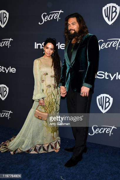 Lisa Bonet and Jason Momoa attend the 21st Annual Warner Bros. And InStyle Golden Globe After Party at The Beverly Hilton Hotel on January 05, 2020...