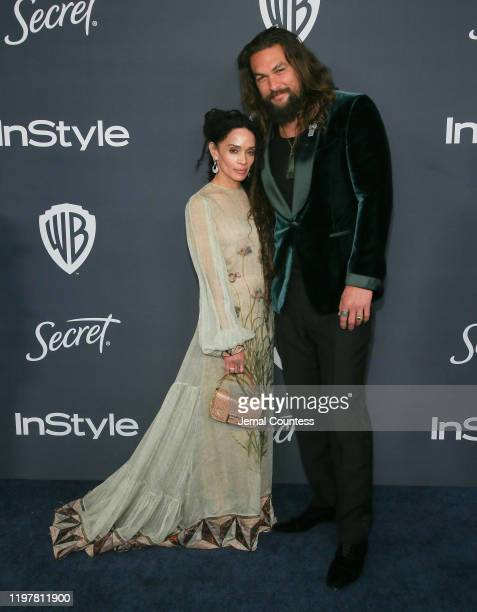 Lisa Bonet and Jason Momoa attend the 21st Annual Warner Bros And InStyle Golden Globe After Party at The Beverly Hilton Hotel on January 05 2020 in...