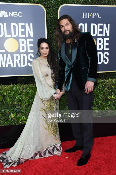 Lisa Bonet and Jason Momoa attend the 77th Annual Golden Globe Awards at The Beverly Hilton Hotel on January 05, 2020 in Beverly Hills, California.