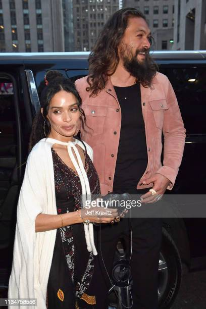 Lisa Bonet and Jason Momoa attend the Game Of Thrones Season 8 NY Premiere on April 3 2019 in New York City