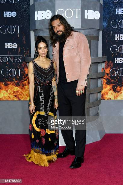 Lisa Bonet and Jason Momoa attend the Game Of Thrones season 8 premiere on April 3 2019 in New York City