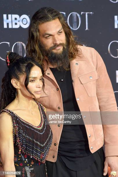 Lisa Bonet and Jason Momoa attend the Game Of Thrones Season 8 Premiere on April 03 2019 in New York City