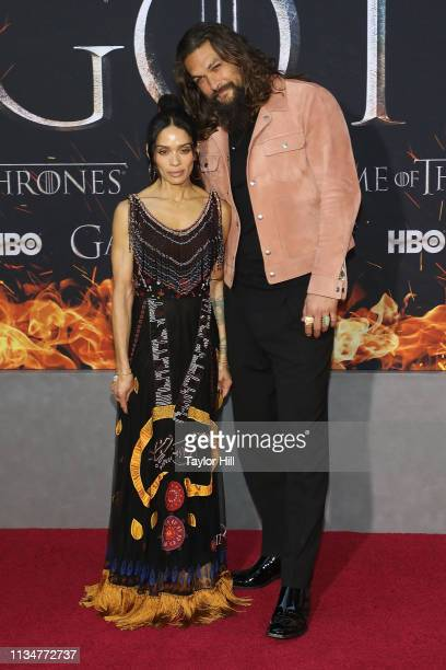 Lisa Bonet and Jason Momoa attend the Season 8 premiere of Game of Thrones at Radio City Music Hall on April 3 2019 in New York City