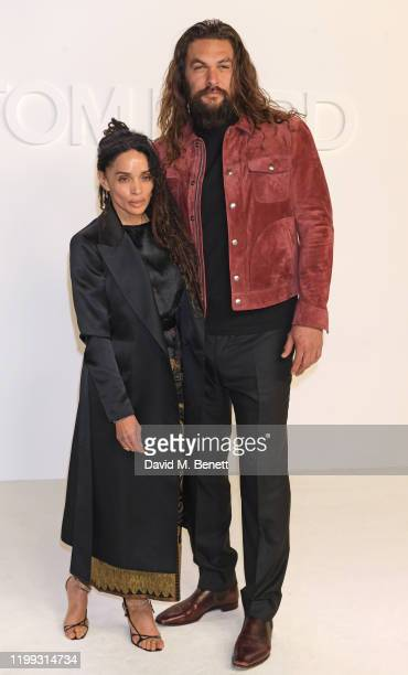 Lisa Bonet and Jason Momoa attend the Tom Ford AW20 show at Milk Studios on February 7 2020 in Hollywood California