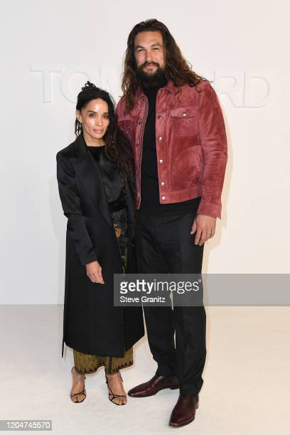 Lisa Bonet and Jason Momoa attend the Tom Ford AW20 Show at Milk Studios on February 07 2020 in Hollywood California
