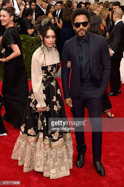 Lisa Bonet and Lenny Kravitz attend the 'China Through The Looking Glass' Costume Institute Benefit Gala at the Metropolitan Museum of Art on May 4...