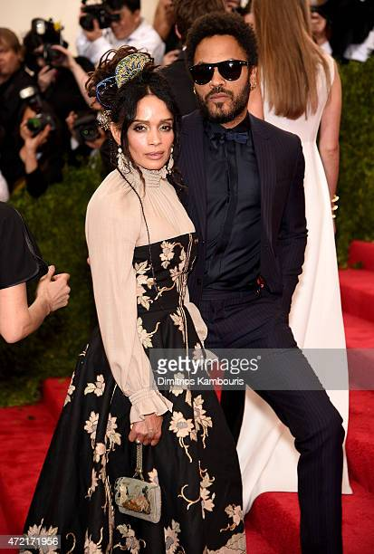 """Lisa Bonet and Lenny Kravitz attend the """"China: Through The Looking Glass"""" Costume Institute Benefit Gala at the Metropolitan Museum of Art on May 4,..."""