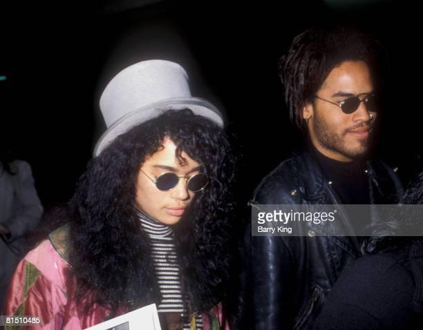 Lisa Bonet and Lenny Kravitz